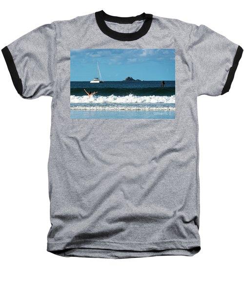 Belongil Beach Baseball T-Shirt