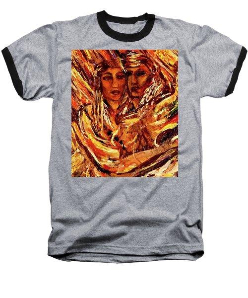 Beloved Woman Baseball T-Shirt by Dawn Fisher