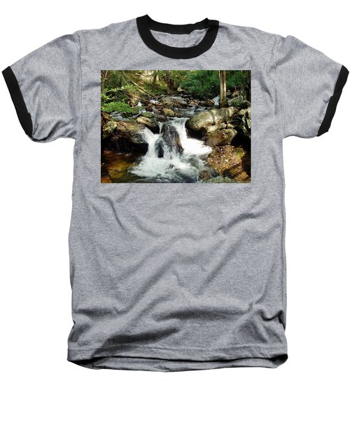 Baseball T-Shirt featuring the photograph Below Anna Ruby Falls by Jerry Battle