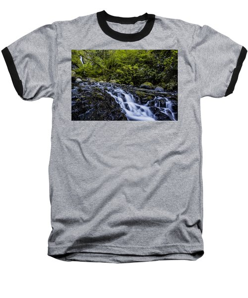 Below Pony Tail Falls Baseball T-Shirt
