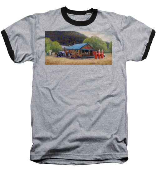 Below Taos 2 Baseball T-Shirt by Donelli  DiMaria