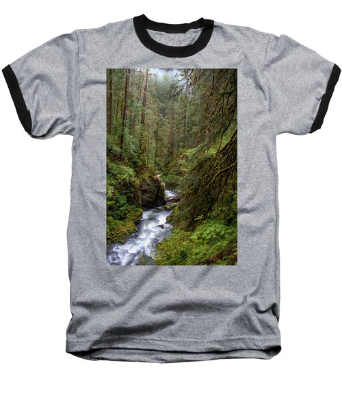 Below The Falls Baseball T-Shirt