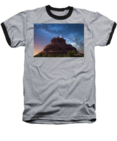 Below The Milky Way At Bell Rock Baseball T-Shirt