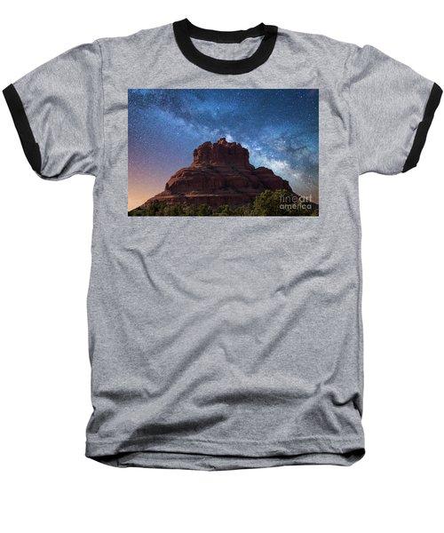 Below The Milky Way At Bell Rock Baseball T-Shirt