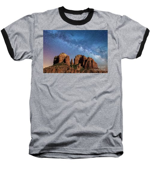 Below The Milky Way At Cathedral Rock Baseball T-Shirt