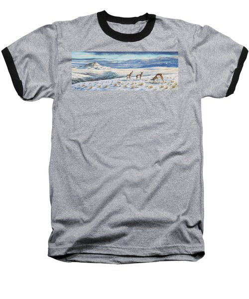 Baseball T-Shirt featuring the painting Belt Butte Winter by Kim Lockman