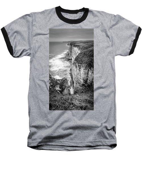 Bempton Cliffs Baseball T-Shirt by Nigel Wooding