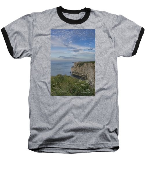 Bempton View Baseball T-Shirt by David  Hollingworth