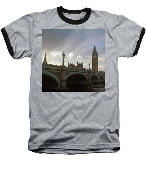 Baseball T-Shirt featuring the photograph Ben And The Bridge by Sebastian Mathews Szewczyk