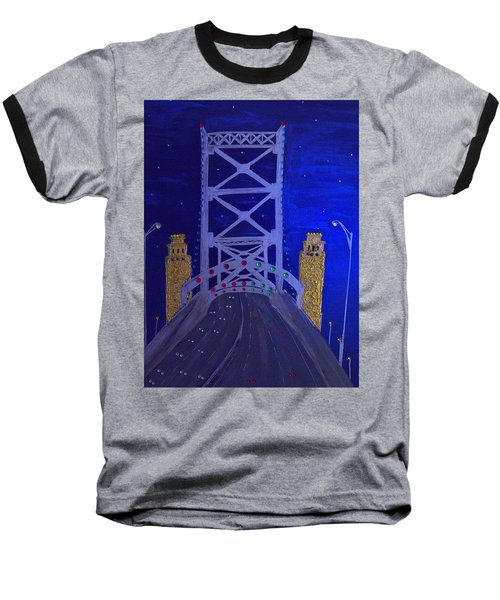 Ben Franklin Bridge Baseball T-Shirt