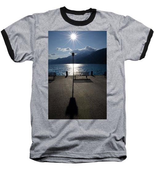 Bench And Street Lamp Baseball T-Shirt
