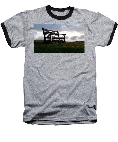 Bench At Sunset Baseball T-Shirt