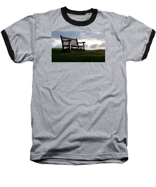Bench At Sunset Baseball T-Shirt