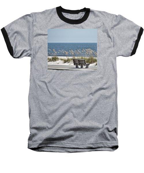 Bench At The Beach Baseball T-Shirt