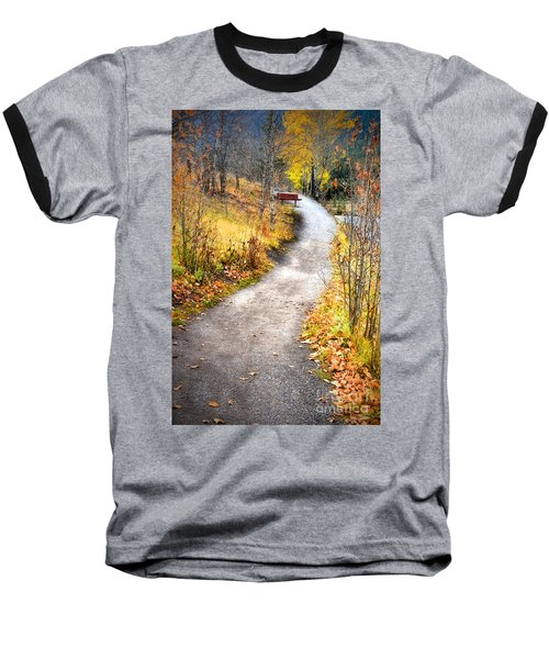 Bench On A Hill Baseball T-Shirt