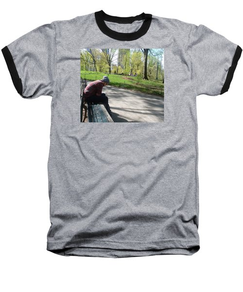 Baseball T-Shirt featuring the photograph Benched by Helen Haw