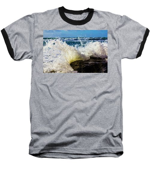 Wave Bending Backwards Baseball T-Shirt