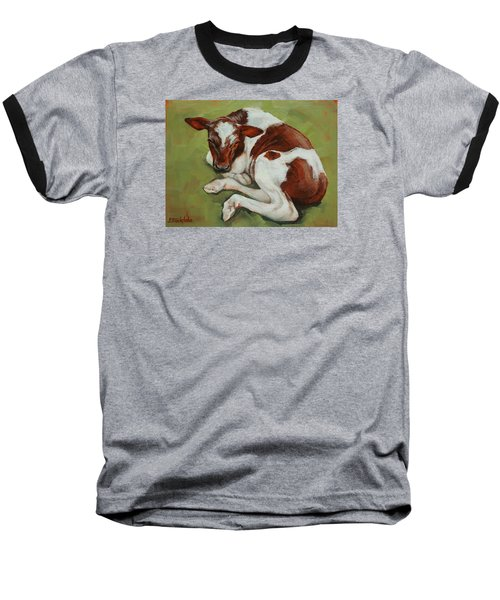 Baseball T-Shirt featuring the painting Bendy New Calf by Margaret Stockdale