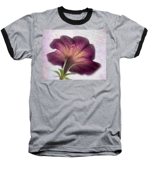 Baseball T-Shirt featuring the photograph Beneath A Dreamy Petunia by David and Carol Kelly