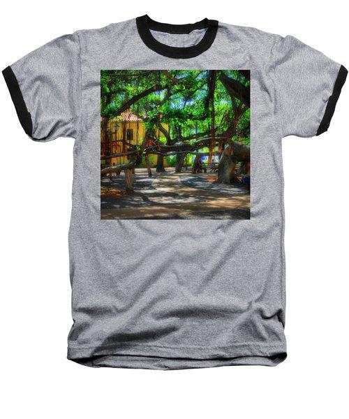 Beneath The Banyan Tree Baseball T-Shirt by DJ Florek