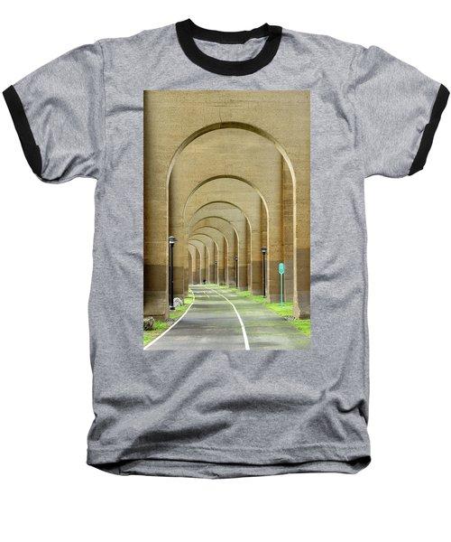 Beneath The Hellgate Baseball T-Shirt