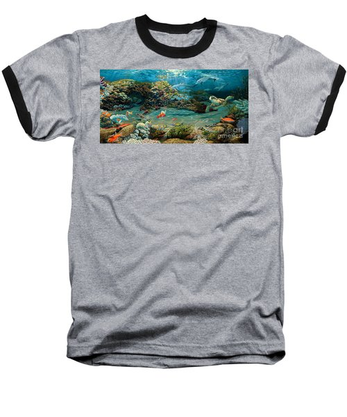 Beneath The Sea Baseball T-Shirt