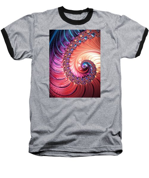 Beneath The Sea Spiral Baseball T-Shirt
