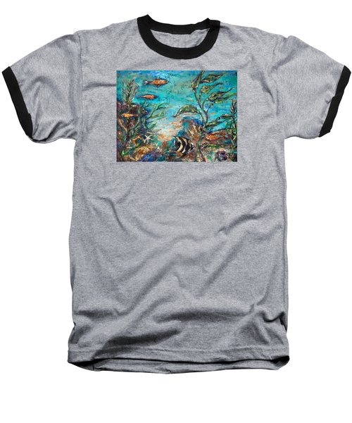 Beneath The Waves Baseball T-Shirt
