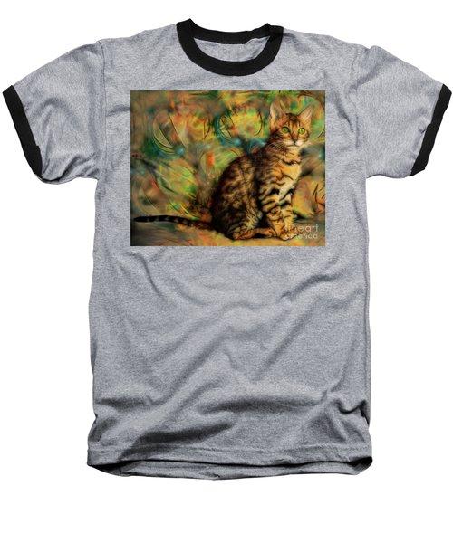 Bengal Kitten Baseball T-Shirt by John Robert Beck