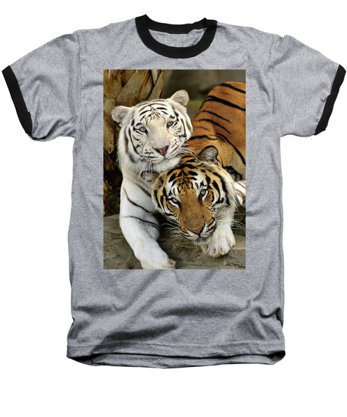 Bengal Tigers At Play Baseball T-Shirt