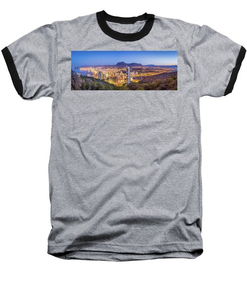 Benidorm At Sunrise, Spain. Baseball T-Shirt