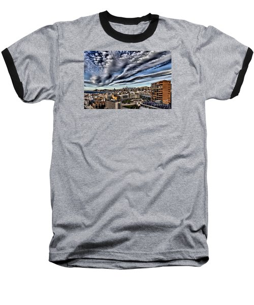 Baseball T-Shirt featuring the photograph Benidorm Old Town Aerial View by Mick Flynn