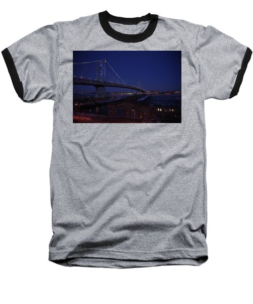 Benjamin Franklin Bridge Baseball T-Shirt
