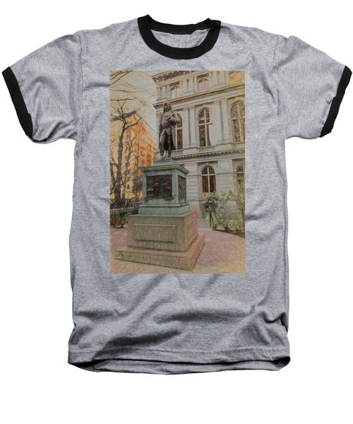Benjamin Franklin Sketch Baseball T-Shirt
