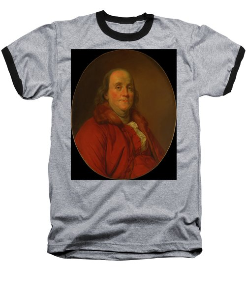 Baseball T-Shirt featuring the painting Benjamin Franklin by Workshop Of Joseph Duplessis