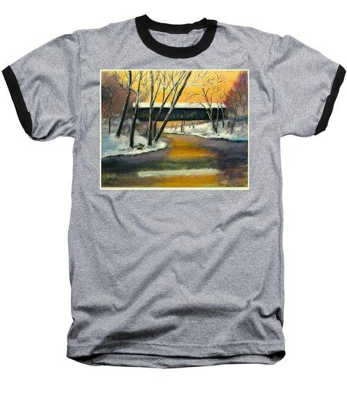 Baseball T-Shirt featuring the painting Bennett by Gail Kirtz