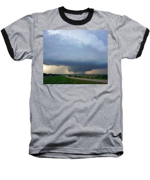 Bennington Tornado - Inception Baseball T-Shirt by Ed Sweeney