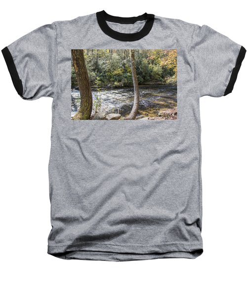 Bent Tree River Baseball T-Shirt by Ricky Dean