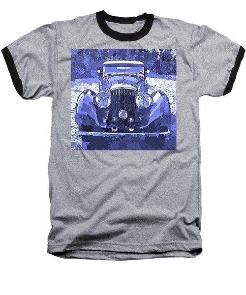 Bentley Blue Pop Art P2 Baseball T-Shirt