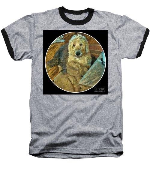 Bentley With His Baby Baseball T-Shirt by Jodie Marie Anne Richardson Traugott          aka jm-ART