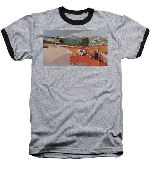 Bergen Peak First Snow Baseball T-Shirt by Dan Miller