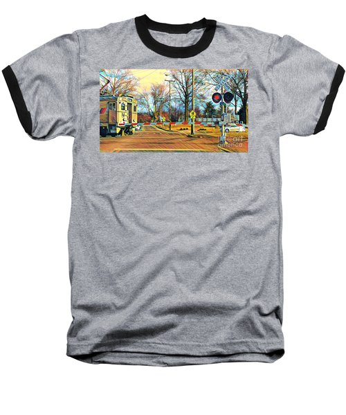 Berkeley Heights Train Baseball T-Shirt