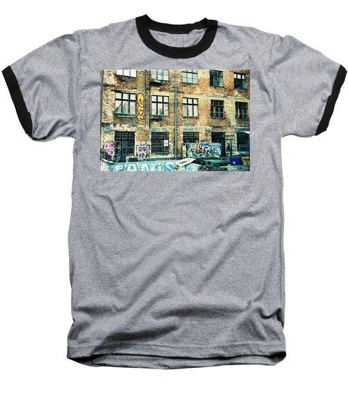 Berlin House Wall With Graffiti  Baseball T-Shirt