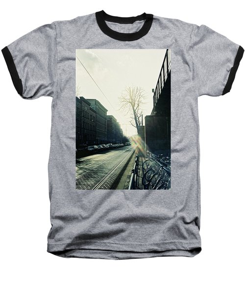 Berlin Street With Sun Baseball T-Shirt