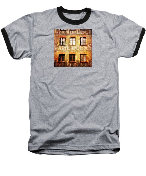 Baseball T-Shirt featuring the photograph Bermondsey Mesh And Wire Works by Anne Kotan