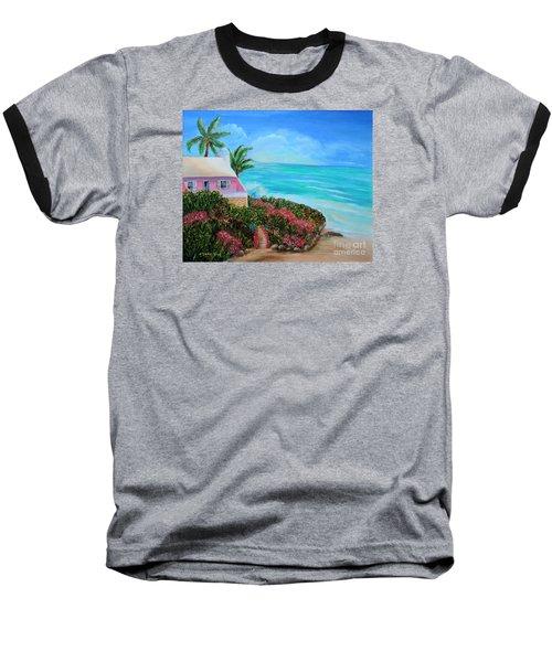 Bermuda Bliss Baseball T-Shirt by Shelia Kempf