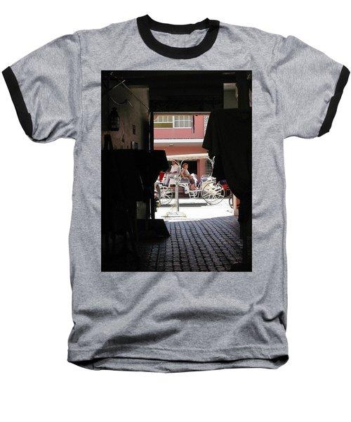 Baseball T-Shirt featuring the photograph Bermuda Carriage by Ian  MacDonald