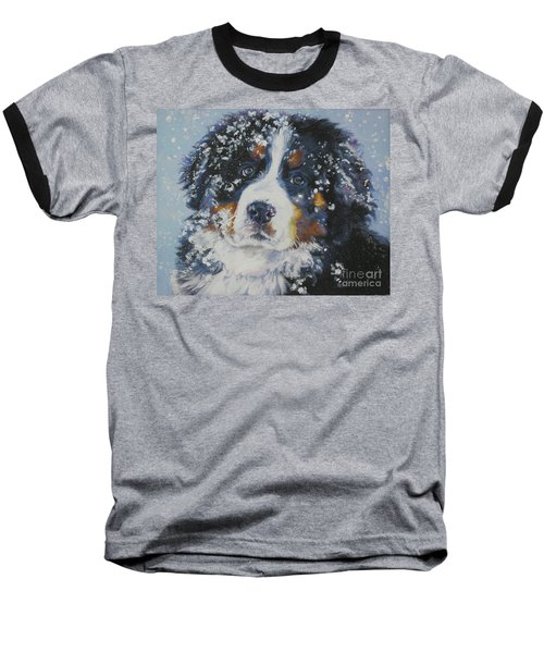 Bernese Mountain Dog Puppy Baseball T-Shirt