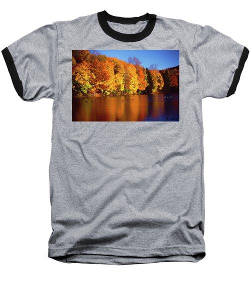 Bernharts Dam Fall 008 Baseball T-Shirt by Scott McAllister