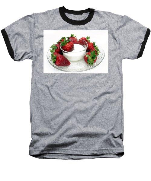 Berries And Cream Baseball T-Shirt